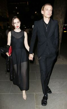 Lily Collins & Jamie Campbell Bower from The Big Picture: Today's Hot Pics  The on-again couples step out in London.