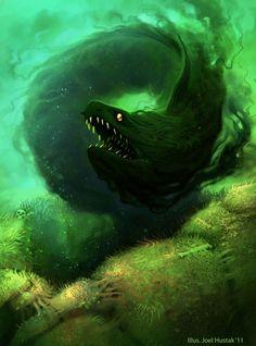 Shadow Eel by joelhustak.deviantart.com on @deviantART
