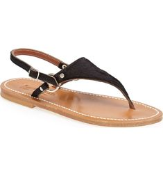 Main Image - K. Tropez 'Triton' V Strap Calf Hair Thong Sandal (Women) Sandals 2018, Nordstrom, Hair, Image, Shoes, Women, Zapatos, Shoes Outlet, Women's