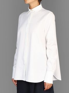 Valentino button front shirt with long and pleated back panel #valentino