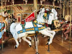 The 1925-28 PTC #51 Carousel at Elitch Gardens Denver, CO - PTC Chariot Horse
