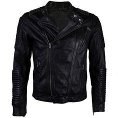 Black Moto Quilted NZ Bike Jacket – VIPARO  Christoph Schaller Signature Lambskin Leather Jacket. Buckle Collar Fastening.