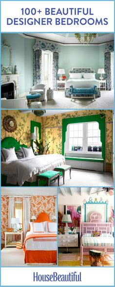 Get inspired by these colorful, organized and dreamy bedroom ideas.