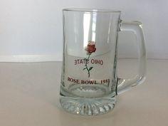 Vintage Rose Bowl Souvenir Glass Mug Stein by FindingYesterday