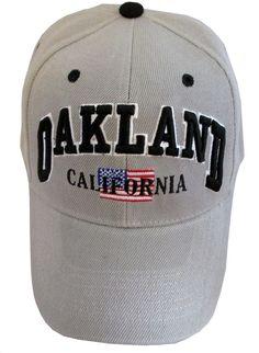 0e485fddb5c16 New baseball trucker hat Oakland California Black Tan Adjustable velcro  strap  Sams  BaseballCap Baseball