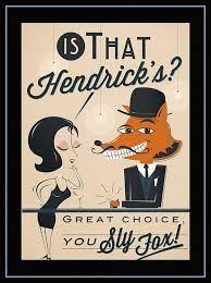 Rétro Métal Signe//Plaque Murale Vintage//Bar Cadeau Hendrick/'s Gin Snooz