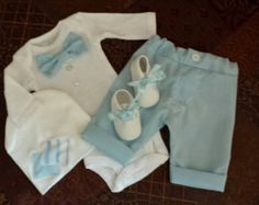 Homecoming outfit . Newborn boy .4 Pieces by SOSBoutiqueandBeyond