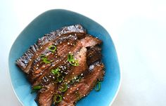 The Ultimate Asian Flank Steak Marinade. Cooked on surface (grill or stovetop grill pan). Marinate in gallon size zip lock, overnight in fridge.