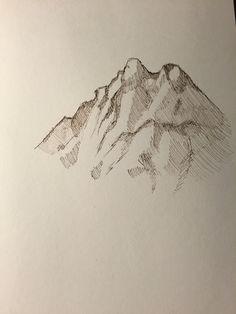 Mountain sketch.
