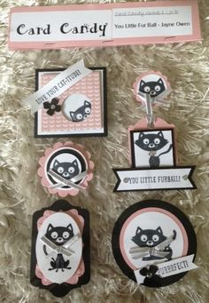 Another fun set of tag-like things from Jo-Jo's Crafty Blog -- really love the one on the top left -- could be my little Saffron!  LOL