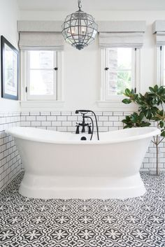 50 Best Farmhouse Bathroom Tile Design Ideas And Decor. If you are looking for 50 Best Farmhouse Bathroom Tile Design Ideas And Decor, You come to the right place. Serene Bathroom, Beautiful Bathrooms, Dream Bathrooms, Bathroom Colors, Colorful Bathroom, Luxury Bathrooms, Easy Bathrooms, Funky Bathroom, Bathtubs For Small Bathrooms