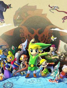 gameandgraphics:  The Legend of #Zelda: The #Windwaker HD official art (#Nintendo for #WiiU, 2013). | GamesNEXT