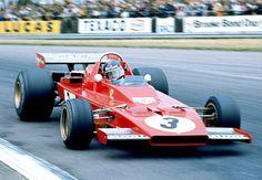 """frenchcurious: """"Jacky Ickx (Ferrari 312B3) grand prix de Grande Bretagne - Silverstone 1973 - Carros e Pilotos. """""""