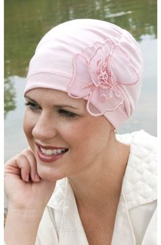 Gathered Lotus Flower Sleep Cap | Headcovers.com