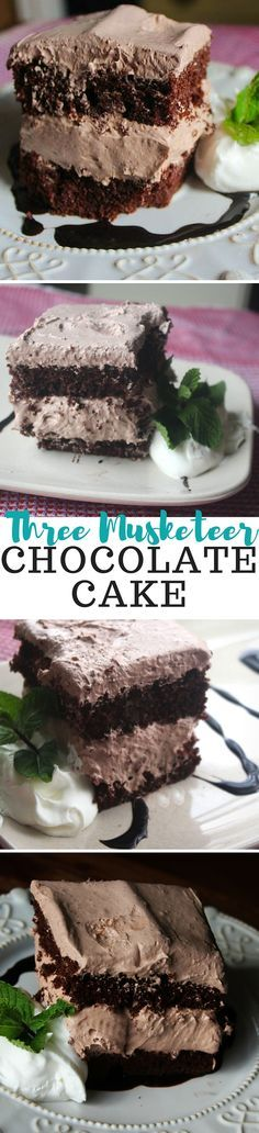 """""""This chocolate cake recipe is so yummy! The chocolate frosting is creamy and not overly sweet. The filling's a bit thicker and really reminds me of the candy bar."""""""