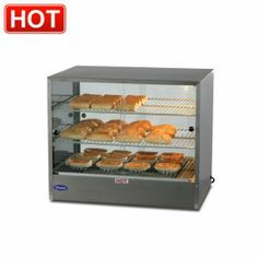 Hot food unit for counter top display.