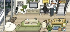 Adorable Home Game Decoration Ideas Stardew Valley Layout, Cute Games, Furniture Layout, Decoration, Game Design, Room Decor, House Design, Lounge Ideas, Layouts