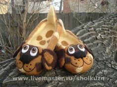 """Обувь ручной работы. Ярмарка Мастеров - ручная работа Детские тапочки """"собачки"""". Handmade."""