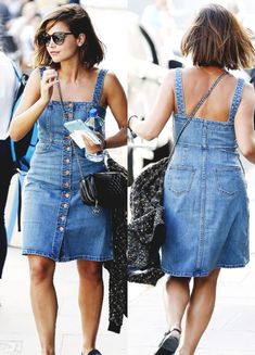 Jenna Coleman, out and about in North London, April 15, 2015.