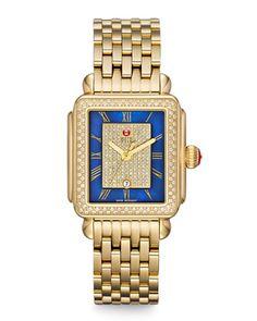 Deco Diamond Watch Head & Bracelet by MICHELE at Neiman Marcus.
