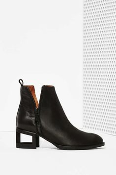 Jeffrey Campbell Boone Leather Bootie - Blackout - Flats | Ankle | Jeffrey Campbell