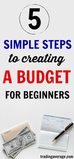 Are you looking to create an easy budget? This article will give you 5 easy steps to creating your first budget. Making A Budget, Create A Budget, Easy Budget, Budget Help, Ways To Save Money, Money Saving Tips, Managing Money, Money Tips, Budgeting Finances