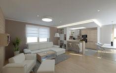 Obývací pokoj a kuchyně House Inspirations, Room Ideas, Flat, Living Room, Decoration, Decor, Bass, Home Living Room, Decorations