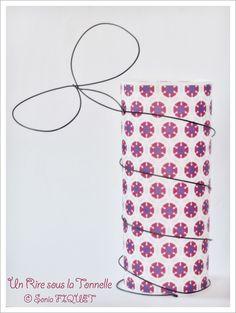 un Rire sous la Tonnelle: Photophore Papillon en fil de fer & papier