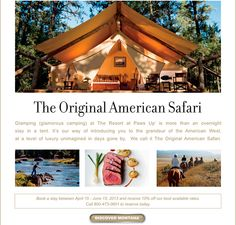 Glamping in Montana -
