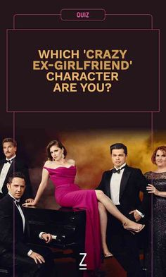 Which Crazy Ex-Girlfriend character are you? Take our personality quiz and find out! Zimbio Quizzes, Crazy Ex Girlfriends, Personality Quizzes, Tv Series, Watch, Hot, Funny, Character, Clock