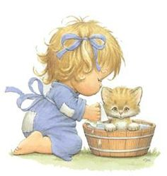 Images Ruth Morehead - Page 13 Cute Images, Cute Pictures, Art Mignon, Sarah Kay, Holly Hobbie, Animation, Gif Animé, Cute Illustration, Vintage Children