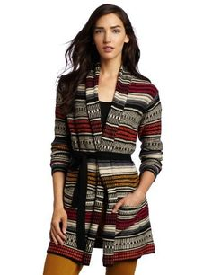 BCBGMAXAZRIA Women's Micah Jacquard Belted Cardigan BCBGMAXAZRIA. $141.44. 33% Rayon/23% Nylon/18% Cotton/18% Lambs Wool/4% Angora/4% Cashmere. Belt detail. Relaxed fit. Dry Clean Only