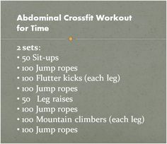 "This looks intense! Not sure how I feel about the ""crossfit mentlity"" but these workouts are a good change up from the basic routine."