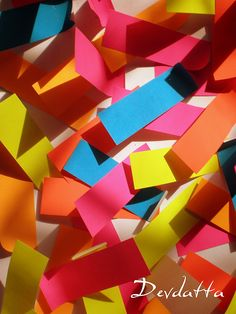 The child with Post it notes!!!`