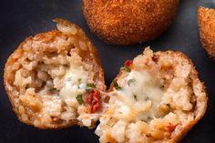 Tomato-Basil Arancini Recipe - CHOW  #arancini  #italianfood #riceballs #