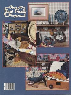 Back Cover Just Ducky designs for your nest~#OutoftheConexonetsy #DIY #craftsupplies #beads #tolepainting #patterns, #sewing patterns