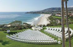 WHAT A VIEW for this beachfront wedding at the Ritz Carlton Laguna Niguel in Dana Point, California.