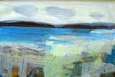 Little Bay by Fiona Millais, acrylic on board, 13 x 18 cm, now SOLD. More paintings by Fiona are available from www.cornwallcontemporary.com