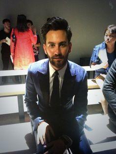 Front row, Matthew Zorpas at Fendi Spring-Summer 2015 Men Fashion Show #MFW #RTW #SS15 #Fendi #LVMH via https://twitter.com/Fendi