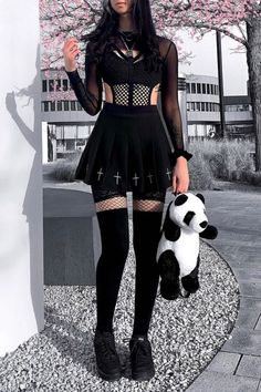 Dope Outfits, Girl Outfits, Fashion Outfits, Grunge Fashion, Girl Fashion, Alternative Fashion, Alternative Style, Alternative Outfits, Badass Outfit