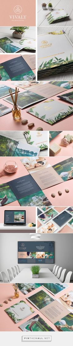 Vivaly Wellbeing Resort on Behance - created on Hotel Brochure, Brochure Layout, Brochure Design, Flyer Design, Freelance Graphic Design, Graphic Design Branding, Corporate Design, Album Design, Book Design