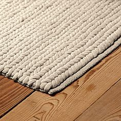 A Nod To The Nautical This Thick And Textural Rug Has Durability That Stands Up High Traffic Areas Each Handwoven Cotton Rope Polyester Foam