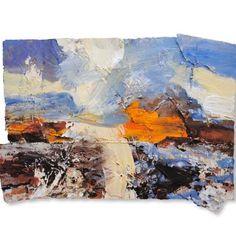 David Tress Sun Sgurr A'Ghaoichain Mixed Media on Paper45 x 62 cm.