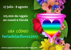 oferta copa menstrual feriadelasflores2017