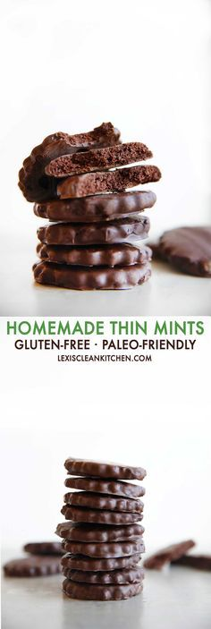 Paleo Thin Mints {Grain-free, diary-free, gluten-free, egg-free, paleo-friendly, and refined sugar free} | Lexi's Clean Kitchen