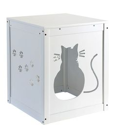 Another great find on #zulily! Wooden Cat Hideaway House / Litter Box Cover #zulilyfinds www.zulily.com #lsicilia  #sicily #etna