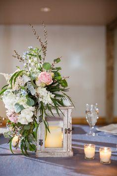 Pink & Blue Wedding Centerpiece
