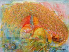 """Amsterdam Amsterdam"", oil (cm 90x110)"