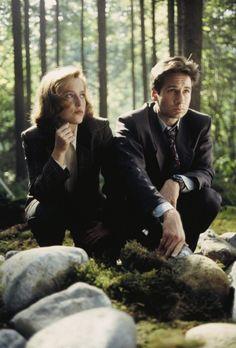 """David Duchovny y Gillian Anderson interpretan a los agentes del FBI Fox Mulder y Dana Scully, cuya tarea es la de investigar casos inexplicables, los llamados """"Expedientes X"""".."""
