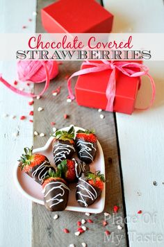 Chocolate covered strawberries @placeofmytaste.com #recipes